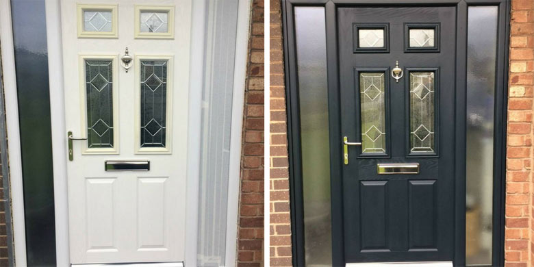 Before And After Anthracite Painted Door