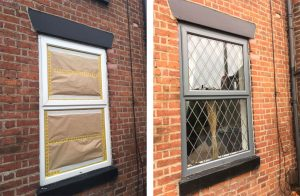 Before and after uPVC Window Painting