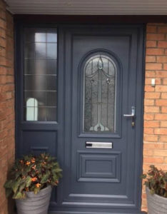 Grey Painted uPVC Door