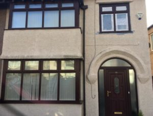 Brown UPVC Front House
