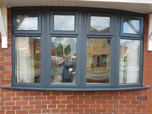 Grey uPVC Window Frames