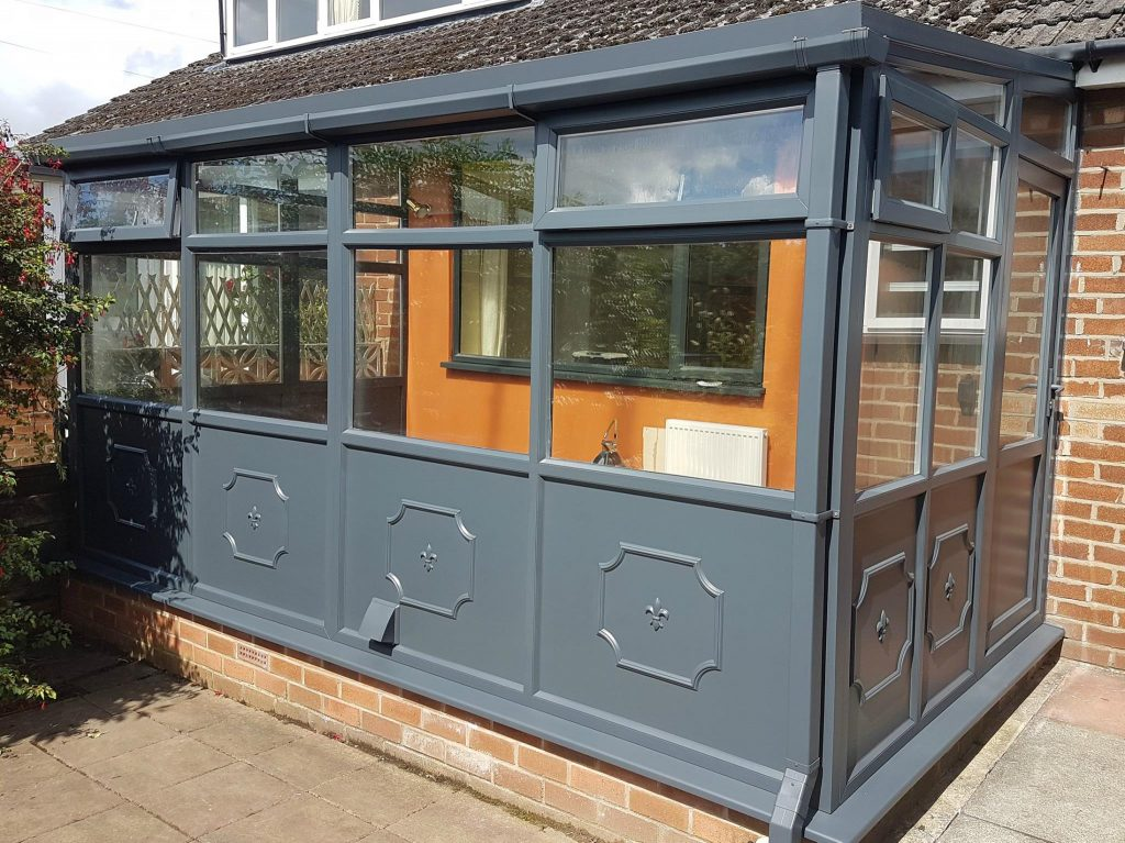 uPVC Spray Painted Conservatory in Grey