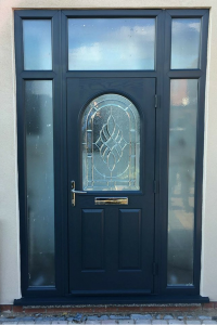 Blue uPVC Painted Door Frame