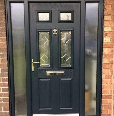 UPVC Door Black After Respray