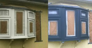 White uPVC Frames Painted Grey