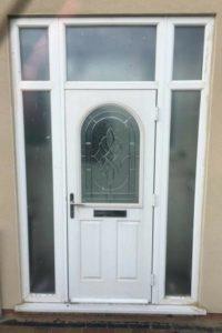 White UPVC Door Before Respray