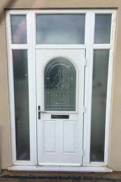 White uPVC Door and Frame