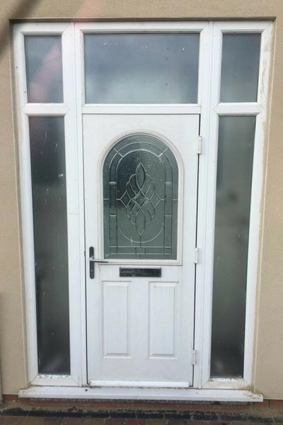 White UPVC Door Before Respray